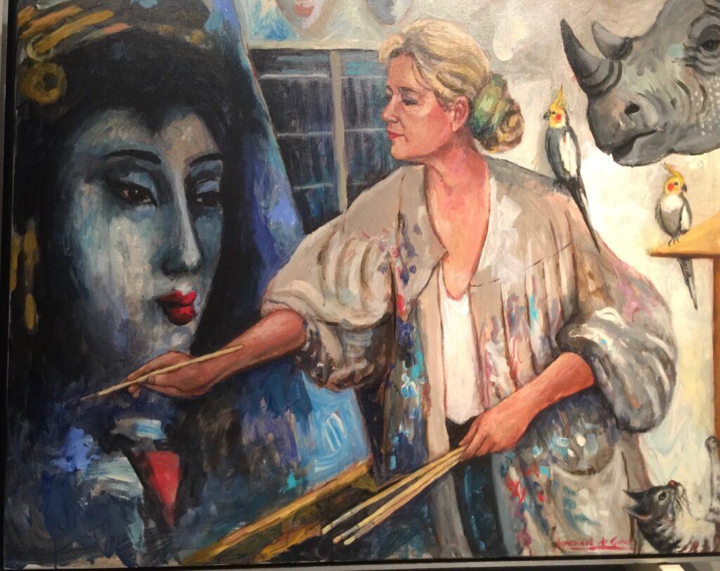 Zelfportret Annemarie de Groot